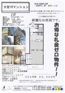 桜新町駅徒歩12分 新町1丁目8.5万円 フルリノベーション済み物件